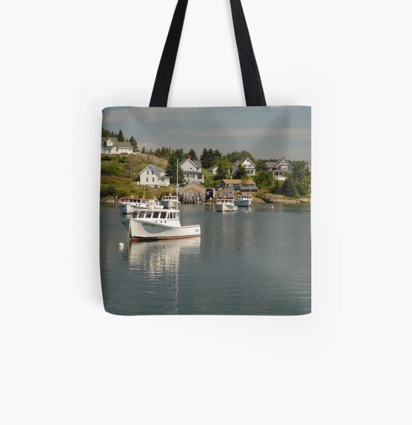 Boats at Rest All Over Print Tote Bag