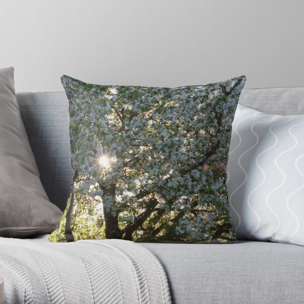 The beauty of an apple tree Throw Pillow