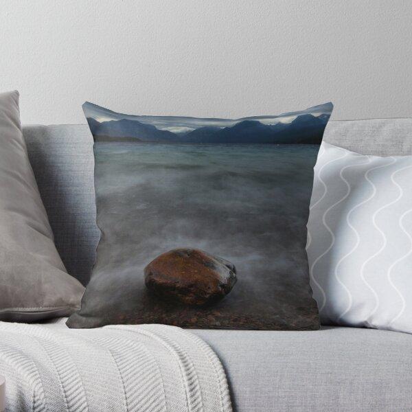 sacred dancing lake Throw Pillow