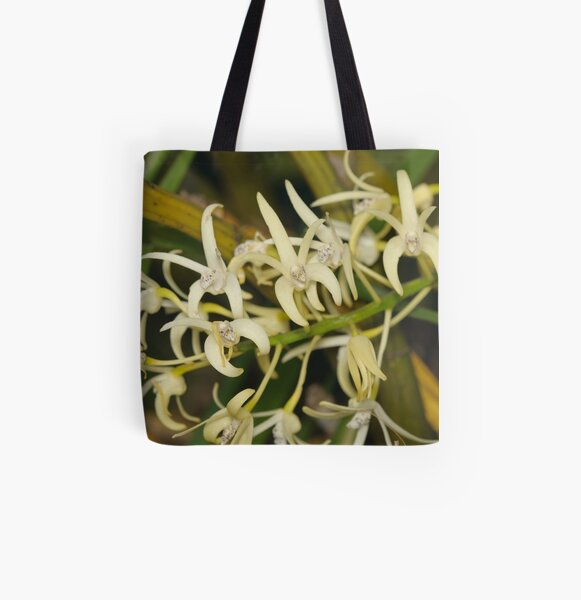 Sydney Rock Orchid All Over Print Tote Bag