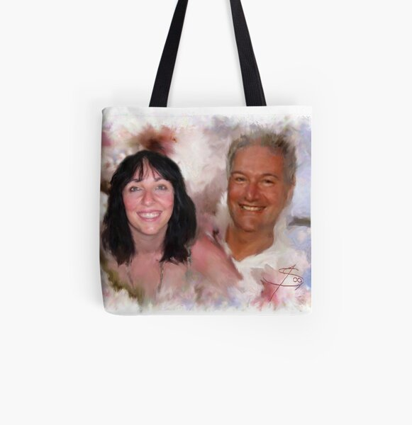 Happier Times All Over Print Tote Bag