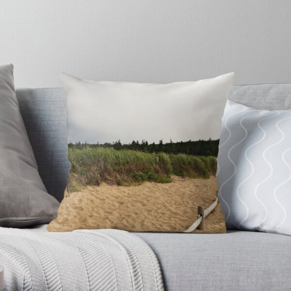 Sand Beach Throw Pillow