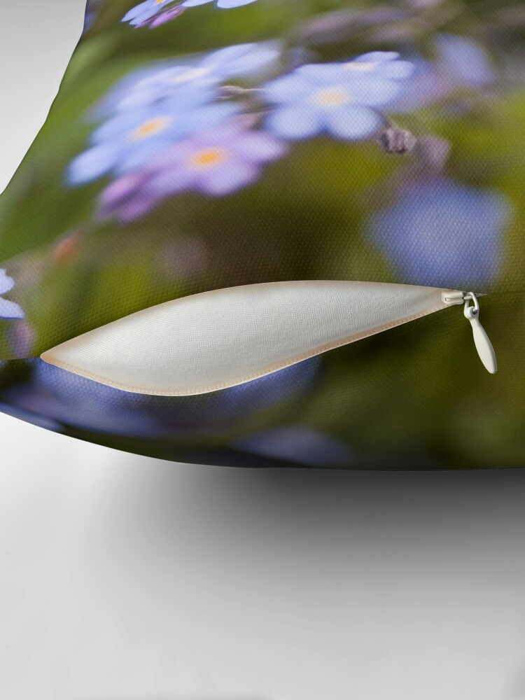 Alternate view of Blue forget-me-not Throw Pillow