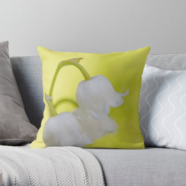 Lily of the valley closeup Throw Pillow