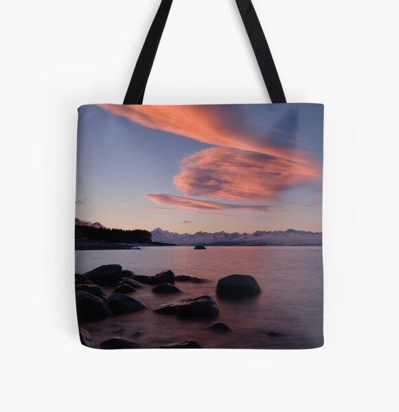 Lake Pukaki, Sunset.. All Over Print Tote Bag