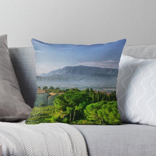 Vineyard in Monte Cassino Throw Pillow