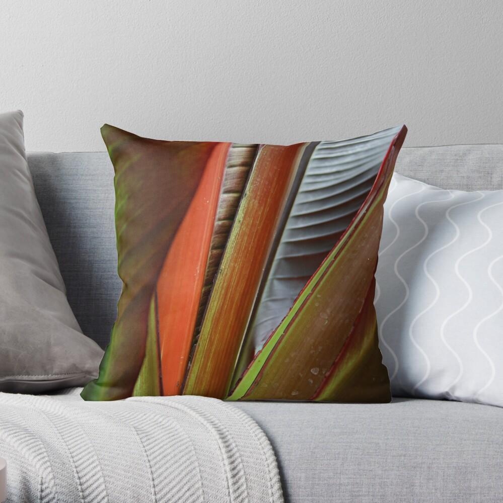 Banana Tree Detail Throw Pillow