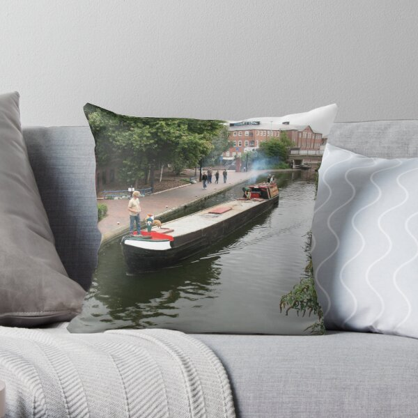 Birmingham Gas Street Basin (5080) Throw Pillow
