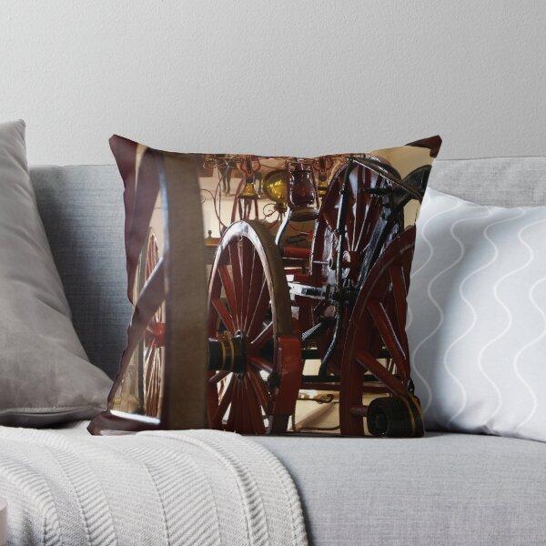 Wheel History II Throw Pillow