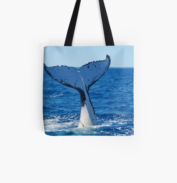 Plunging into the Pacific All Over Print Tote Bag