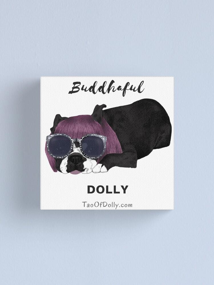 Alternate view of Buddhaful Dolly - Black Border Canvas Print