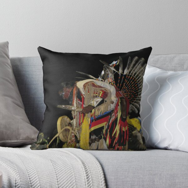 Native American Series No. 2 Throw Pillow