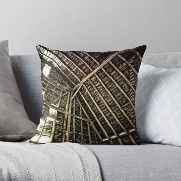 A Barn's Innards Throw Pillow