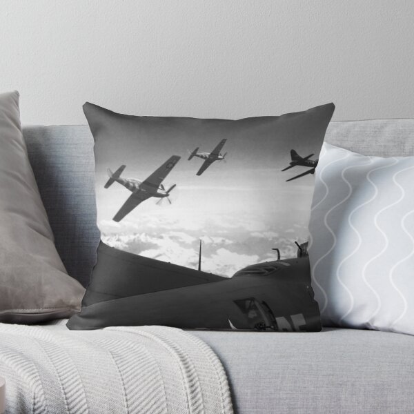 The Final Mission (Monochrome Version) Throw Pillow