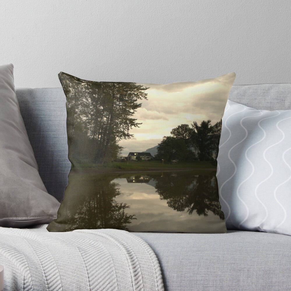 Reflections of the Farm Throw Pillow