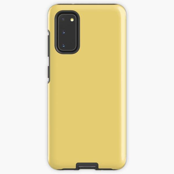 PLAIN SOLID YELLOW - JASMINE YELLOW- BY OZCUSHIONS  Samsung Galaxy Tough Case