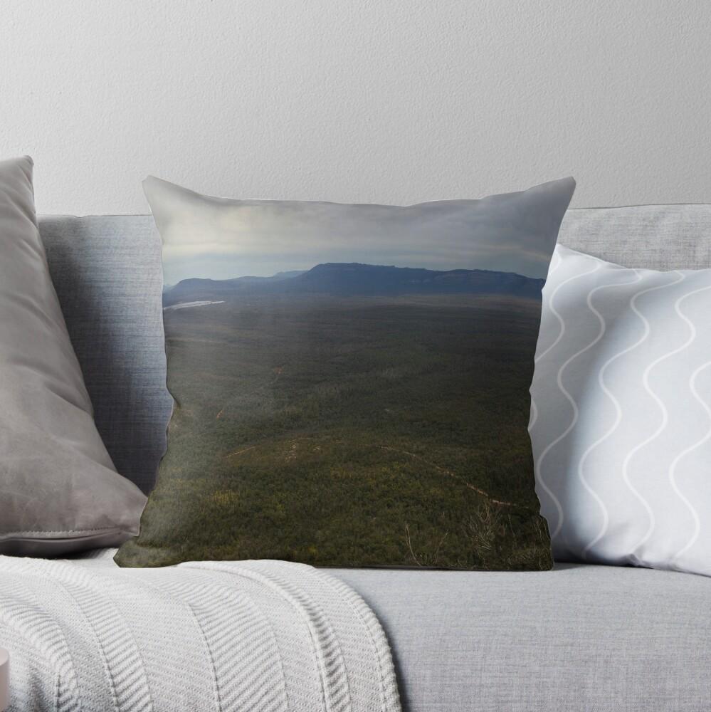 Reeds Lookout panorama Throw Pillow