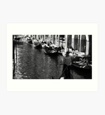 Black and White Venice Art Print