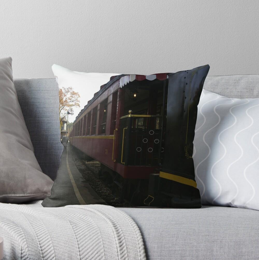 Texas Railroad Throw Pillow