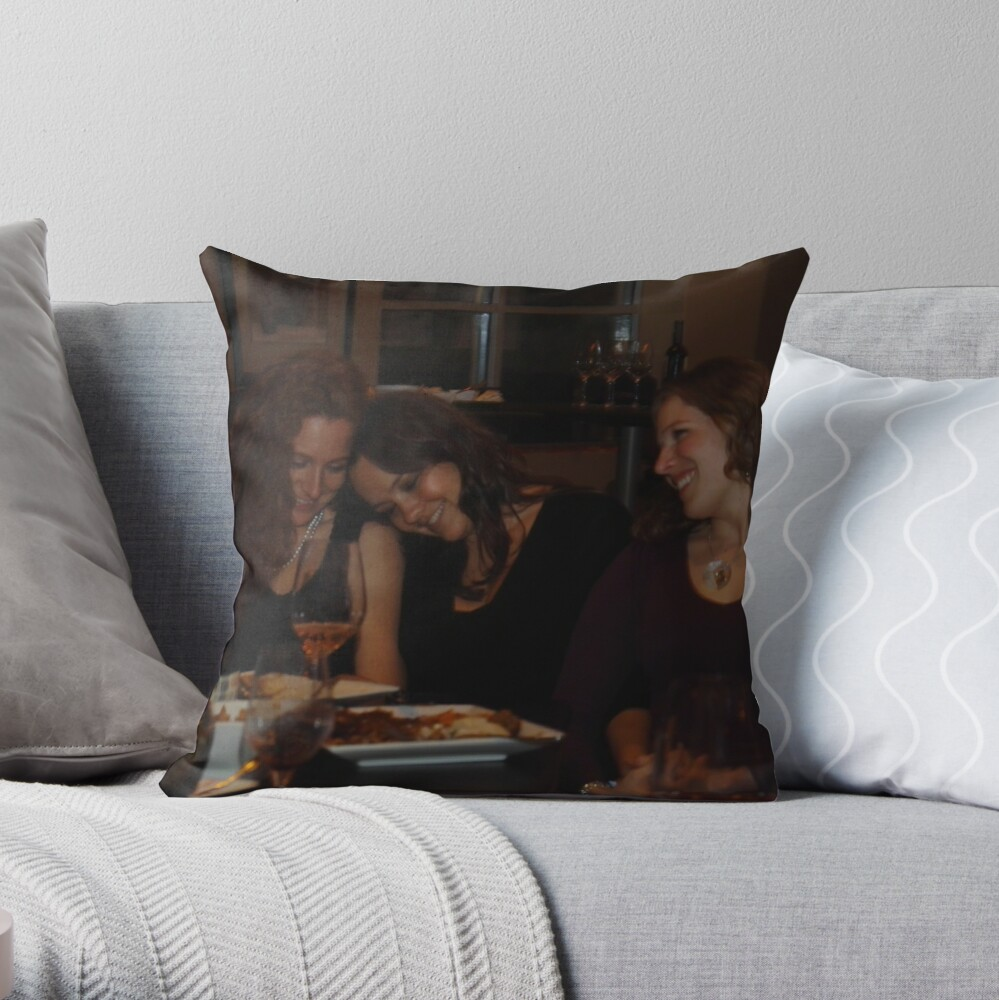 Wine and Women Throw Pillow