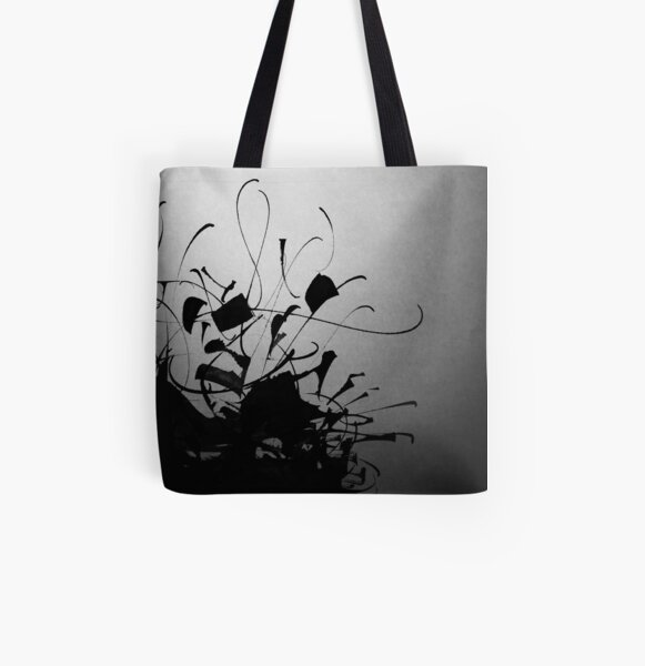 Alphabet calligraphy All Over Print Tote Bag