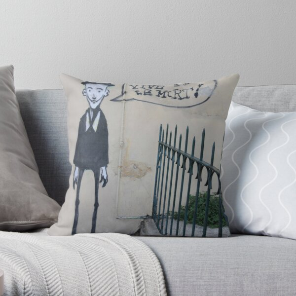 Vive Le Mort Throw Pillow
