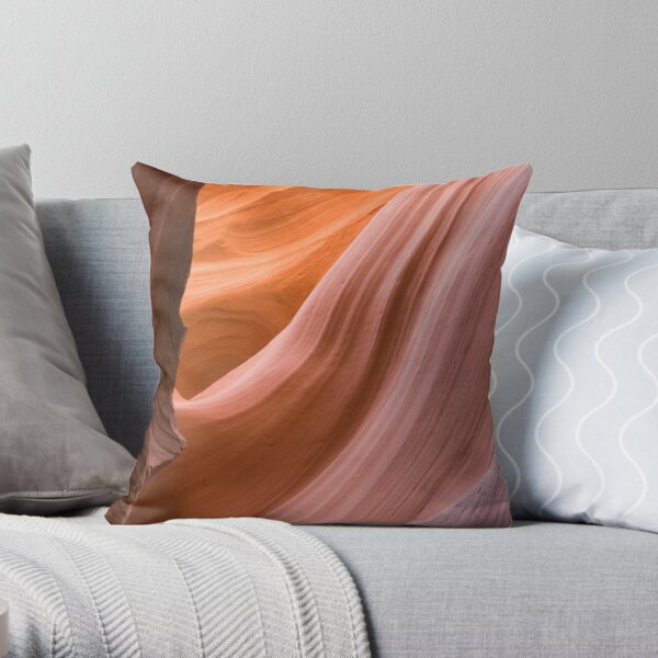 Antelope Canyon, Page. Throw Pillow