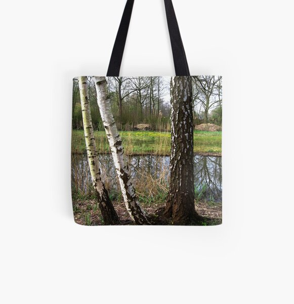 Birches look through All Over Print Tote Bag