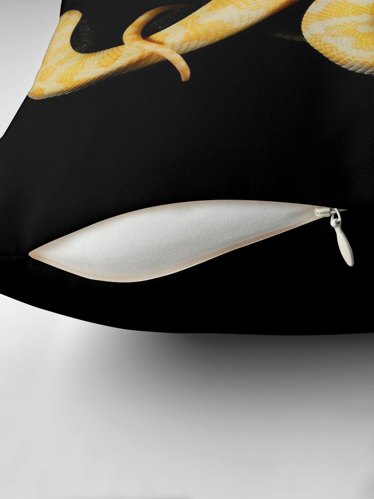 Alternate view of Albino Northern Territory Carpet Python (Morelia spilota variegata) Throw Pillow