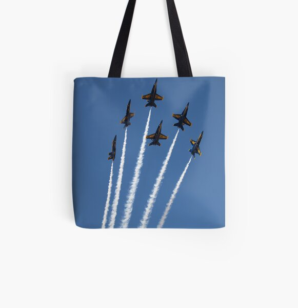 Blue Bouqet All Over Print Tote Bag
