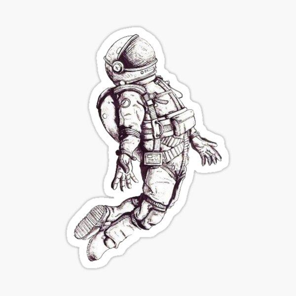 Floating spaceman Sticker