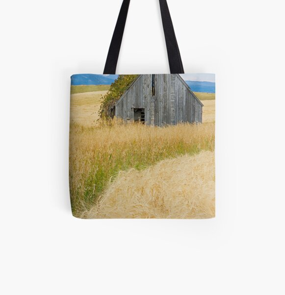 Broke Down Beauty, a.k.a. the Butt of the Barn All Over Print Tote Bag