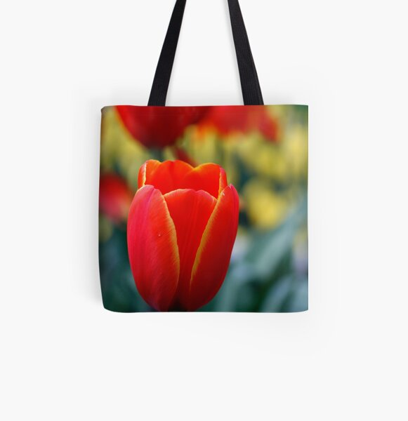 Beautiful Red All Over Print Tote Bag