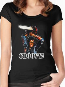 Evil Dead Ash - Groovy! Women's Fitted Scoop T-Shirt