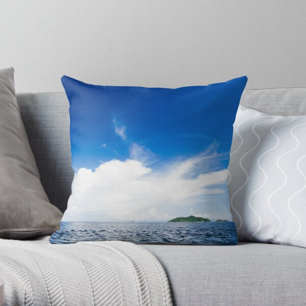 Blue And White Explosion! Throw Pillow