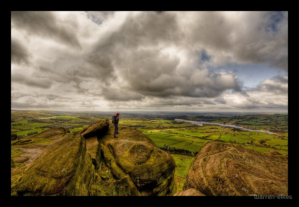 Admiring the view over the Roaches by warren-elkes