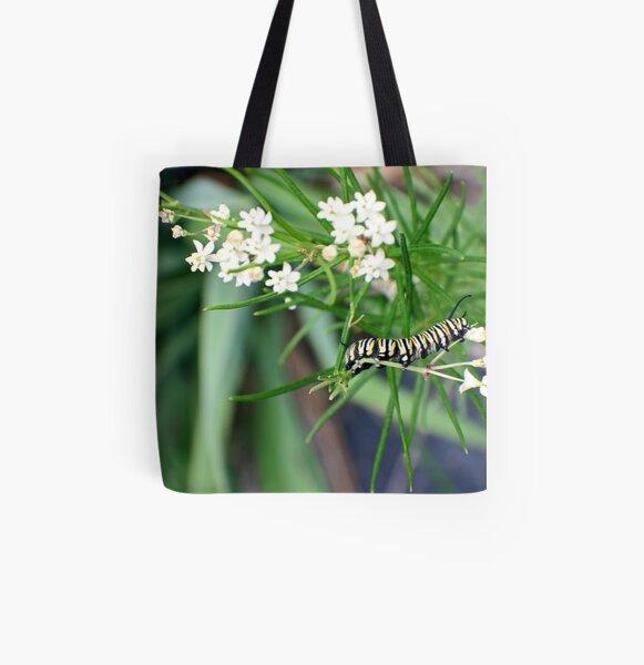 Monarch Caterpillar - 6 All Over Print Tote Bag