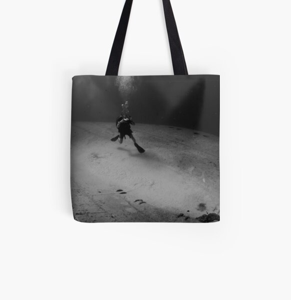Wreck Diver All Over Print Tote Bag