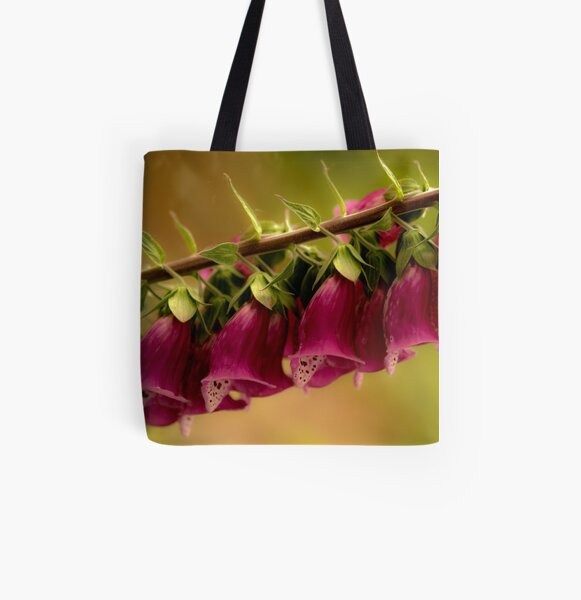 Foxglove All Over Print Tote Bag