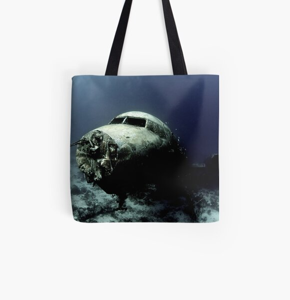 Water Landing All Over Print Tote Bag