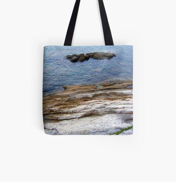 DREAMY WHITE BEACH  All Over Print Tote Bag