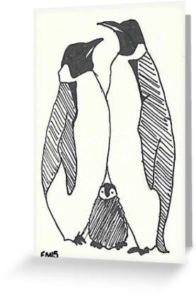 Pinguin-Familie von Emma Moules