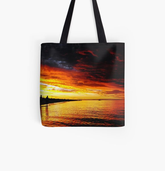 Walking together enjoying the sunset All Over Print Tote Bag