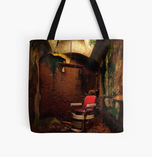 Prison barber shop All Over Print Tote Bag