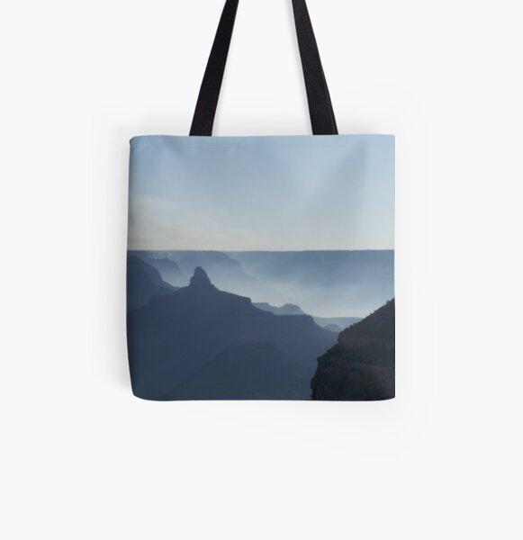 Smoke Filled Canyon All Over Print Tote Bag
