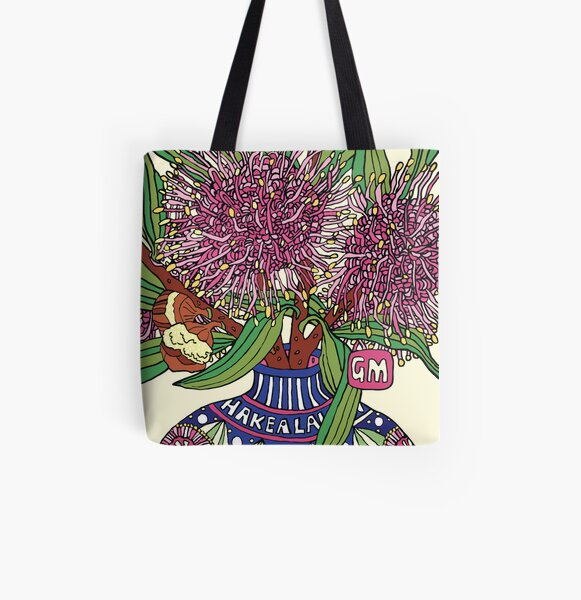 Bud Vase of Hakea Laurina All Over Print Tote Bag