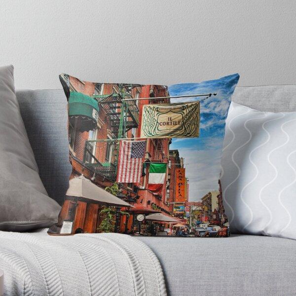 Little Italy, New York Throw Pillow