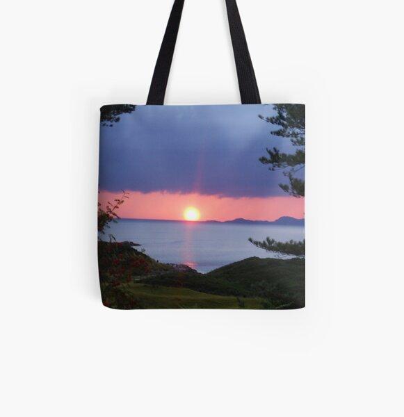 Sunset over Skye All Over Print Tote Bag