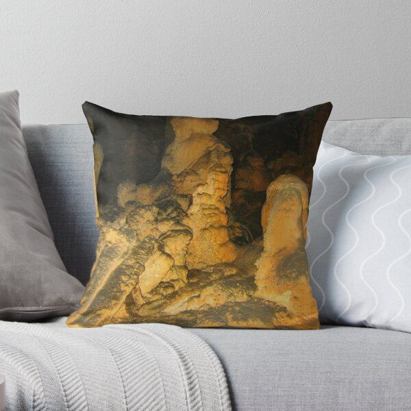 CAVE PEOPLE GATHERING Throw Pillow