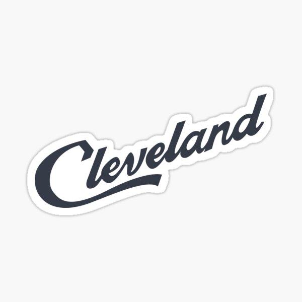 Cleveland Script Sticker (Cleveland Indians Blue) Sticker